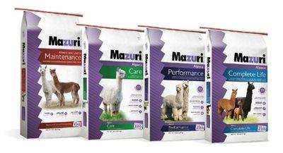 Four bags of Mazuri alpaca feeds